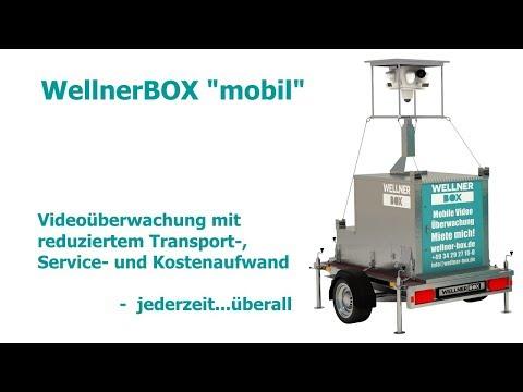 """WellnerBOX """"mobil"""" - Videoüberwachung mit reduziertem Transport-, Service- und Kostenaufwand"""