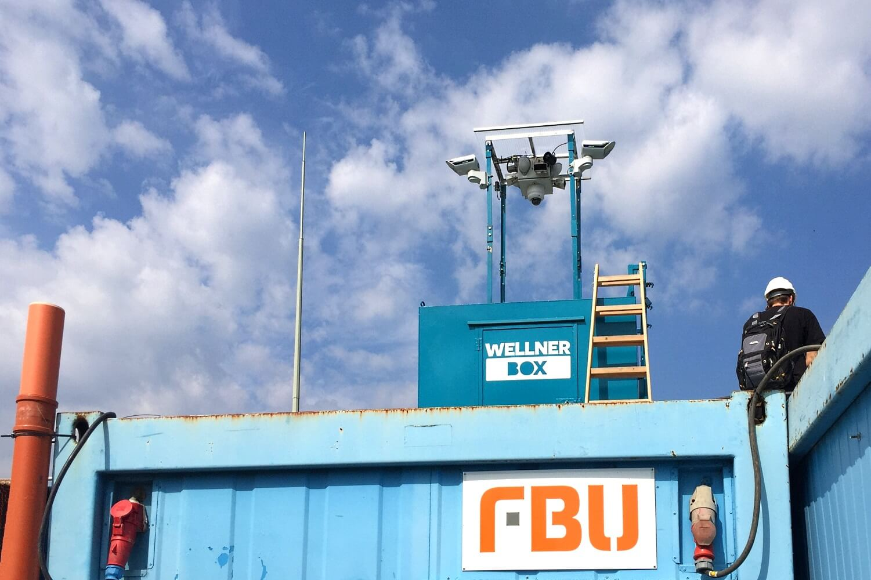 An die eigene Sicherheit denken - auch beim Aufbau unserer WellnerBOX