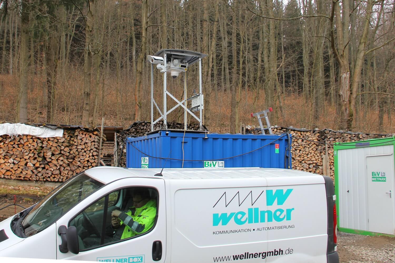 Baustelle am Besucherstollen Morgenstern_Langstreckenmelder sichern das Luchsbachtal
