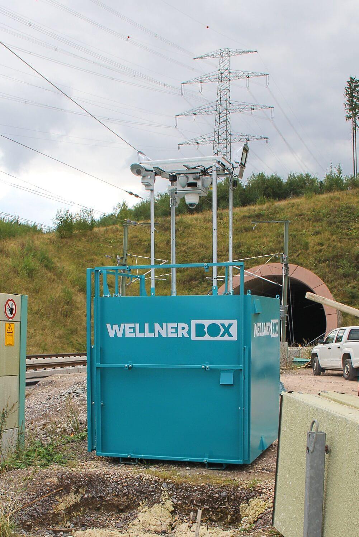 Die WellnerBOX an der Ilmtalbrücke in Thüringen