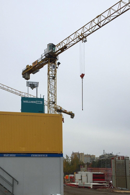 Baustellenüberwachung an einer Leipziger Asylunterkunft
