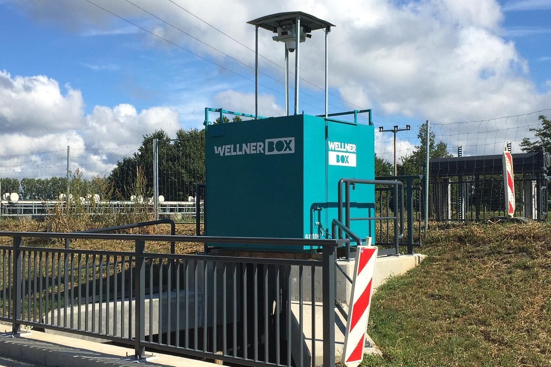 Im Einsatz für den Hochwasserschutz - die WellnerBOX in Burg (Spreewald)