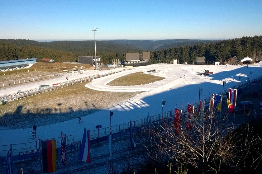 Biathlon Weltcup Oberhof - Blick auf die Arena