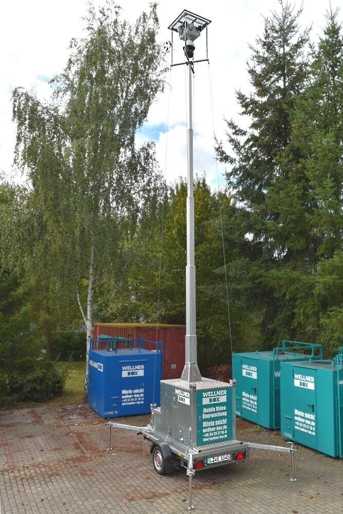 WellnerBOX mobil mit 8m Mast