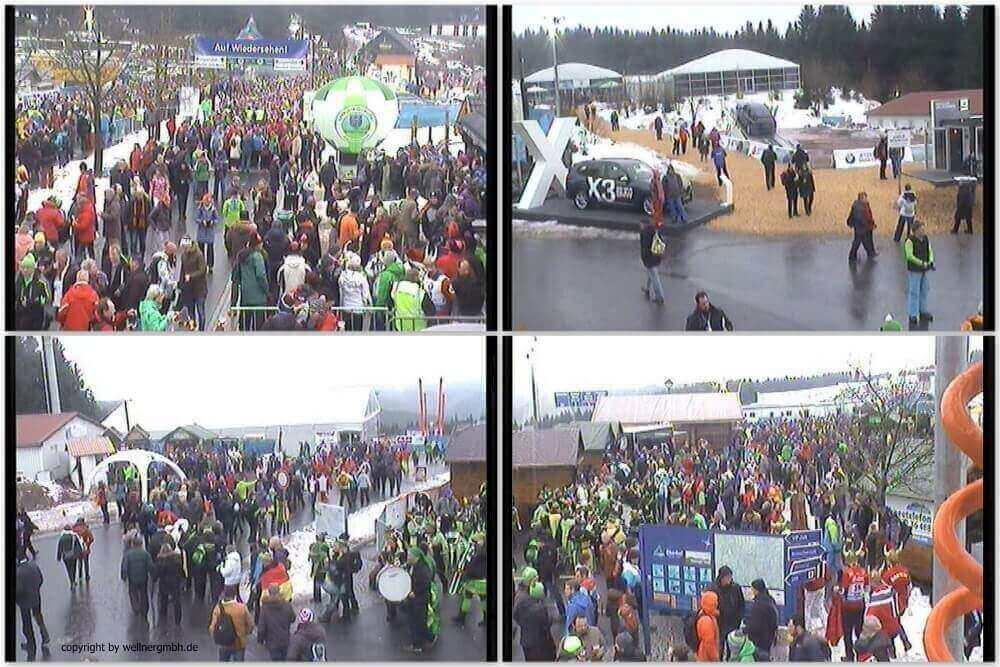 Überwachung von Besucherströmen beim Biathlon Weltcup in Oberhof 2018