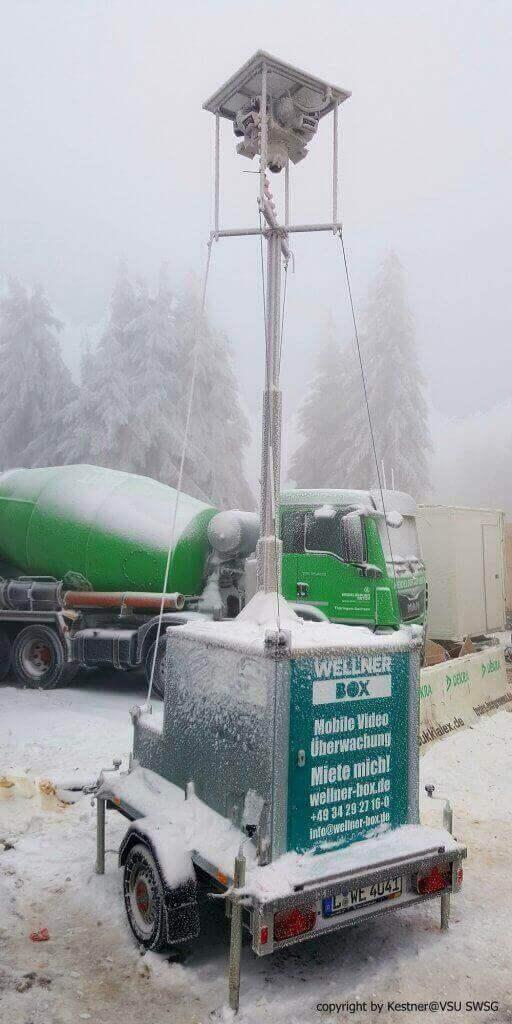 Trotzt Schnee und Kälte, die WellnerBOX mobil