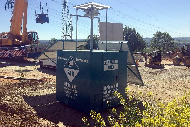 Baustellenüberwachung am neuen UW Trendelburg