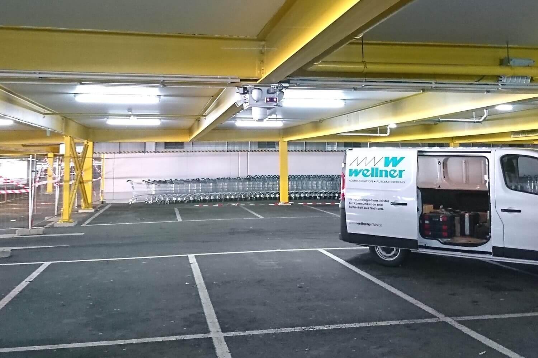 Diebstahlschutz in der Tiefgerage eines IKEA Materiallagers in Chemnitz