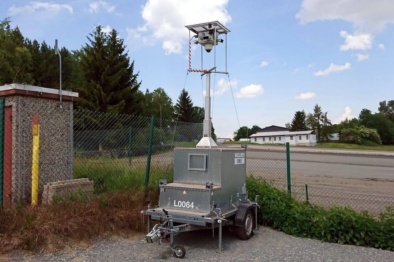 WellnerBOX im typischen Einsatzgebiet auf abgelegenem Außenareal.
