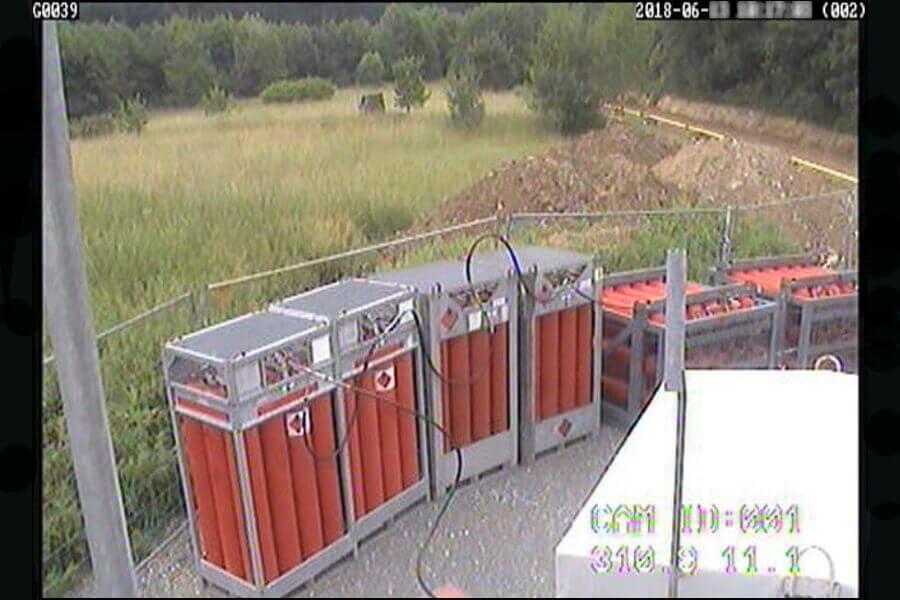 Sabotageschutz für eine mobile gastechnische Einrichtung zur Zwischenversorgung des Ortsnetzes