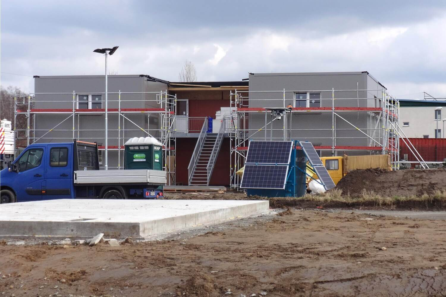 Construction site monitoring - Leipziger Residential Park
