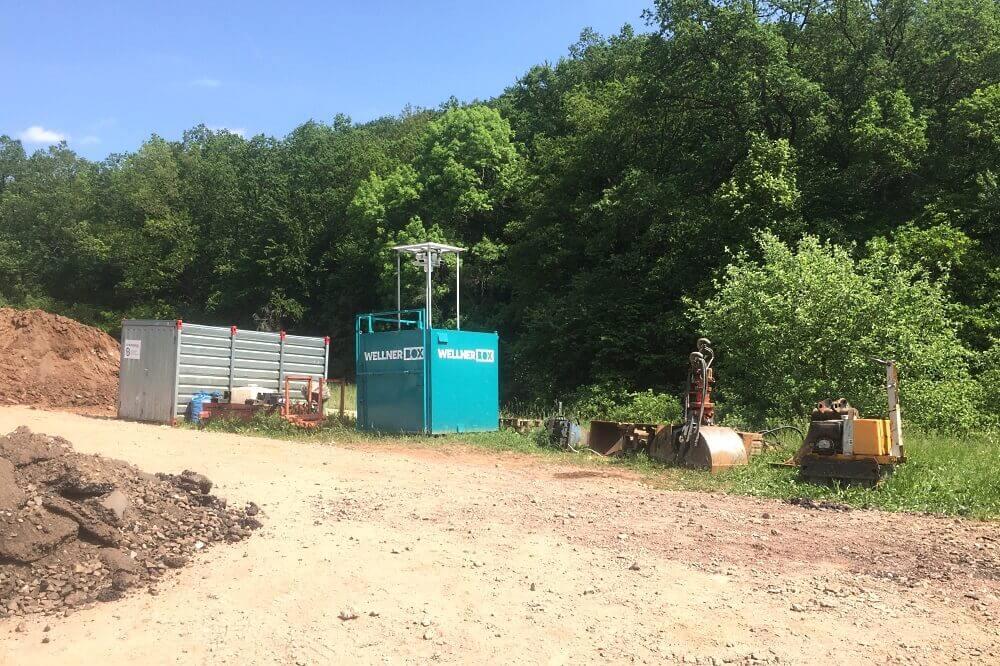 Construction site surveillance on the L231 near Sangerhausen.