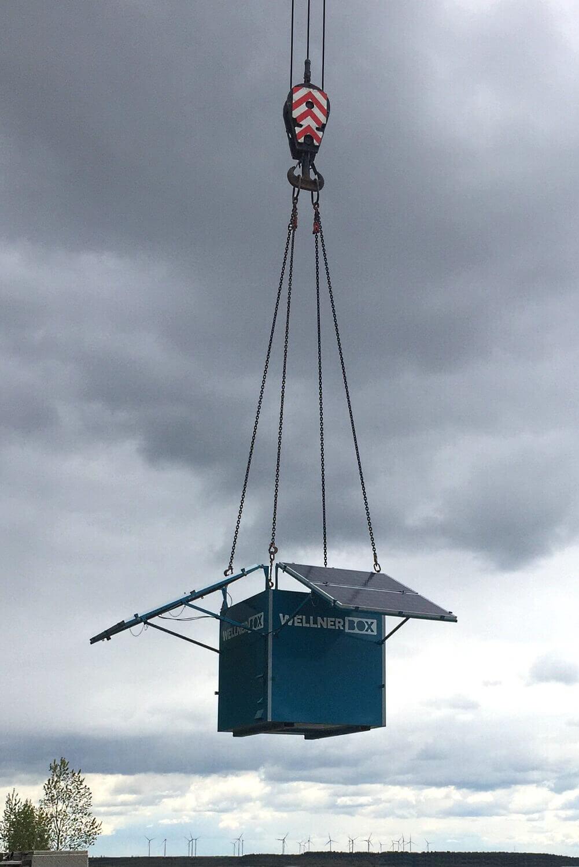 Repositioning via truck-mounted crane