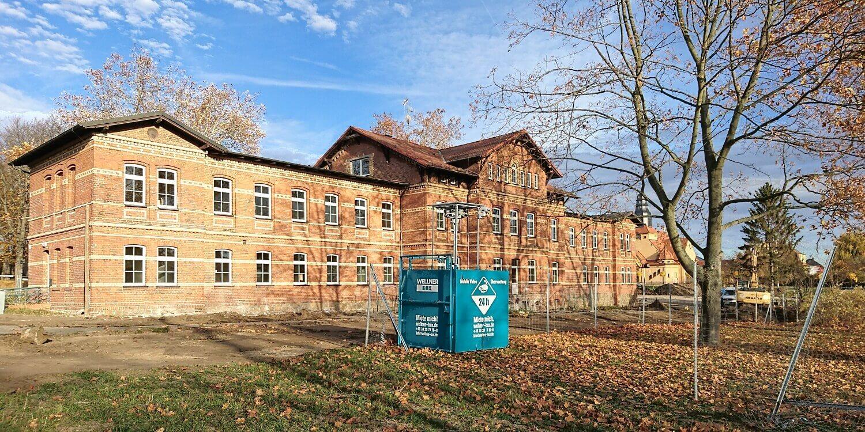 Gut gesicherte Sanierung am Sächsischen Krankenhaus Altscherbitz