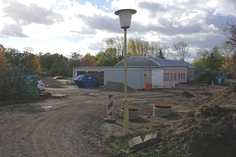 Baustellenüberwachung für Riesaer Grundschule
