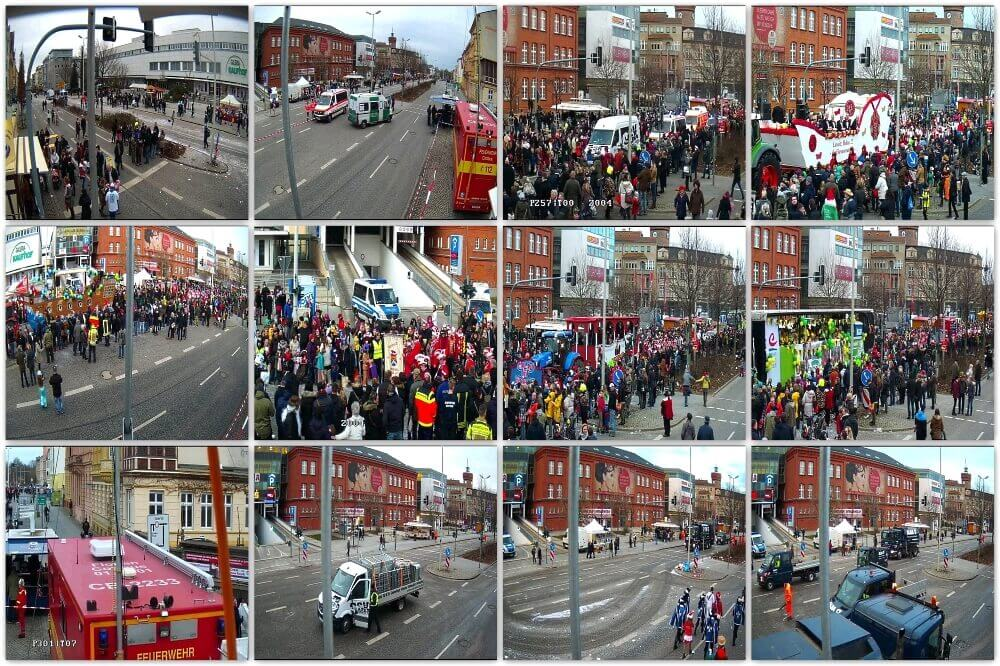 Cottbus Carnival Parade 2017 - Everything in view at all times with the WellnerBOX mobile.