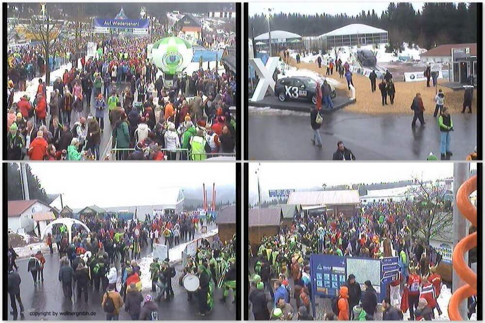 Monitoring of visitor flows at the Biathlon World Cup in Oberhof 2018