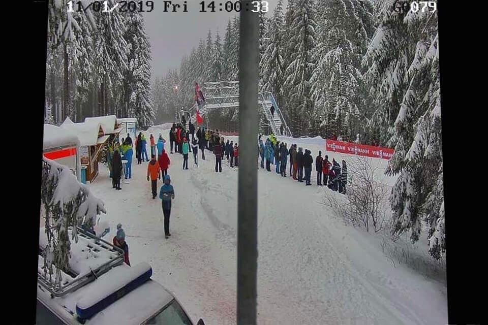 Einer der Hot-Spots der schwierigen Biathlon-Strecke