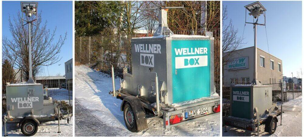 The WellnerBOX can be used in snow and cold in any terrain...ideal for winter sports events of all kinds.