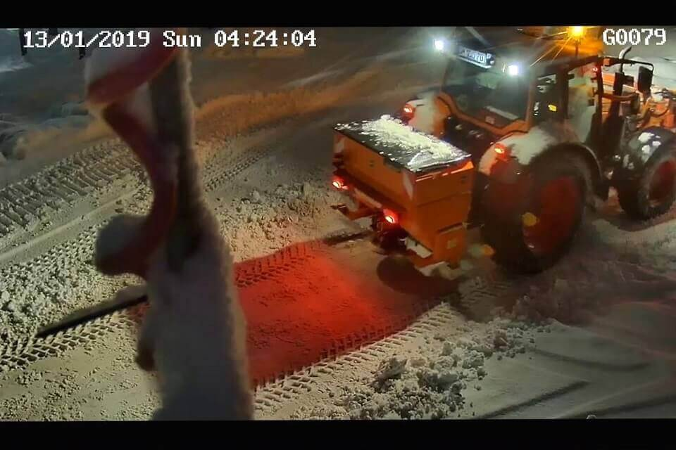 The snowploughs were in use every night