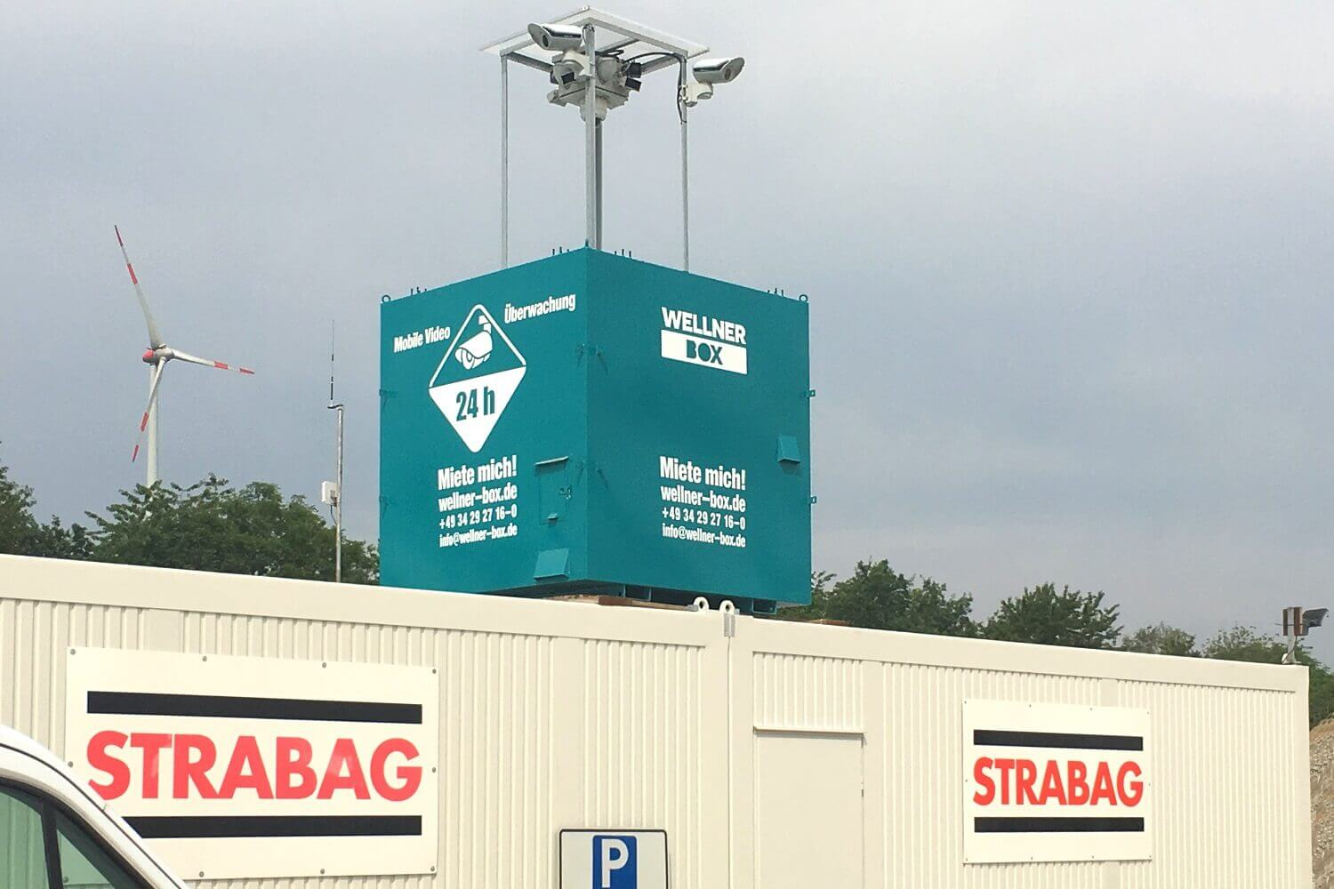 Surveillance of a concrete mixing plant for Strabag at the highway A9  Osterfeld