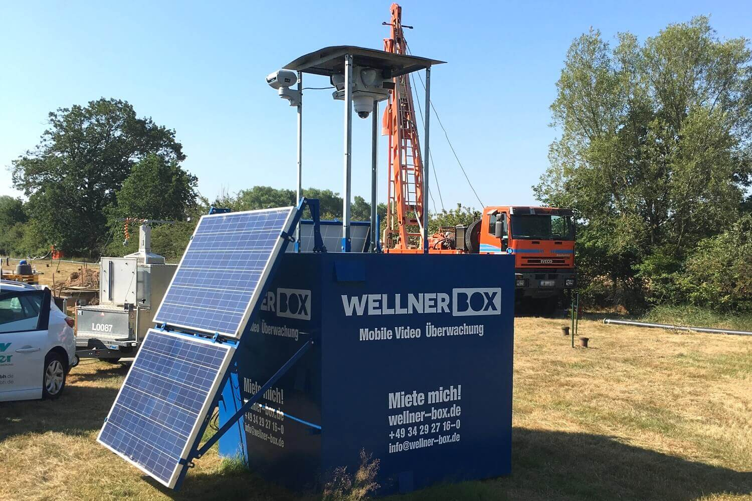 Surveillance of well construction works in Canitz near Leipzig