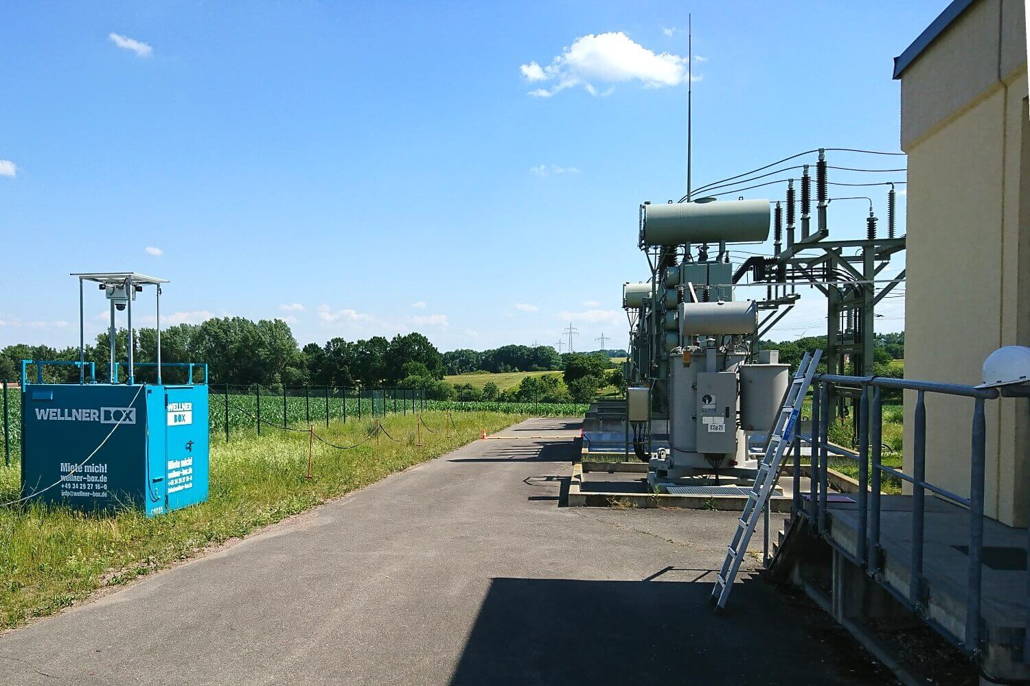 Theft protection for enviaM at Schelkau substation
