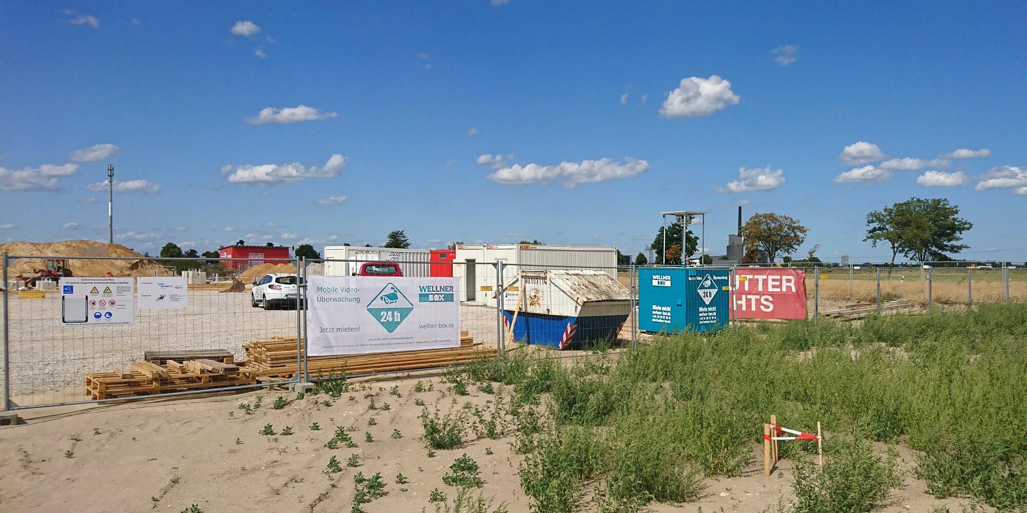 Baustellenüberwachung mit 2 WellnerBOXen in Sandersdorf