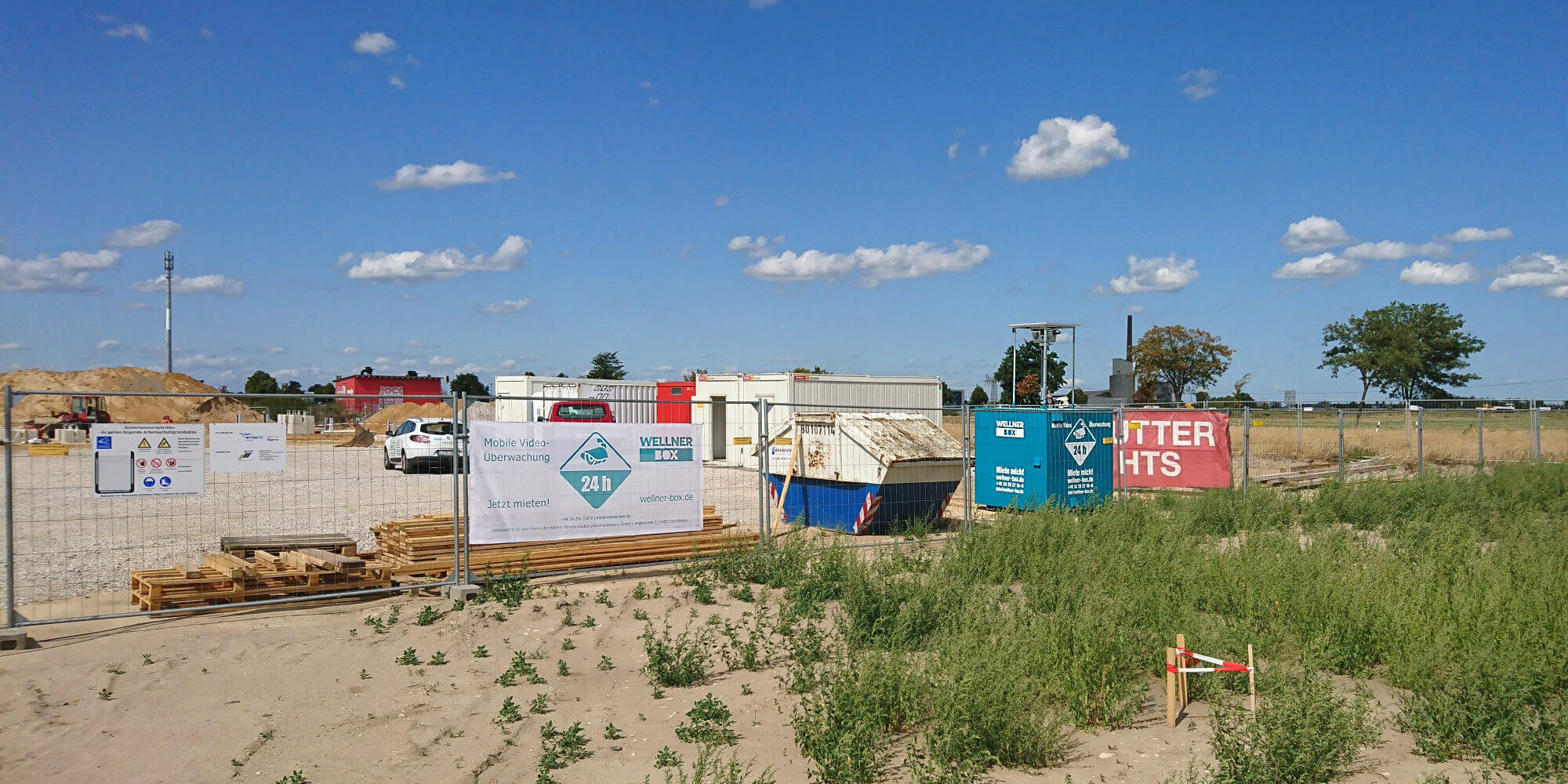 Construction site surveillance with 2 WellnerBOXes in Sandersdorf