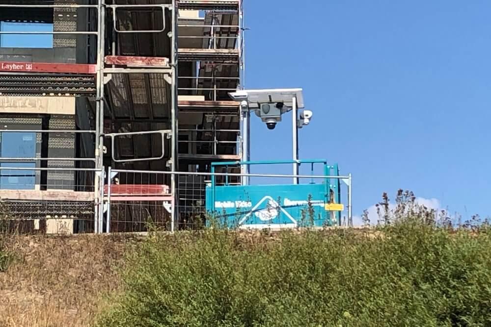 WellnerBOX auf einer Baustelle am Lindenauer Hafen, Leipzig